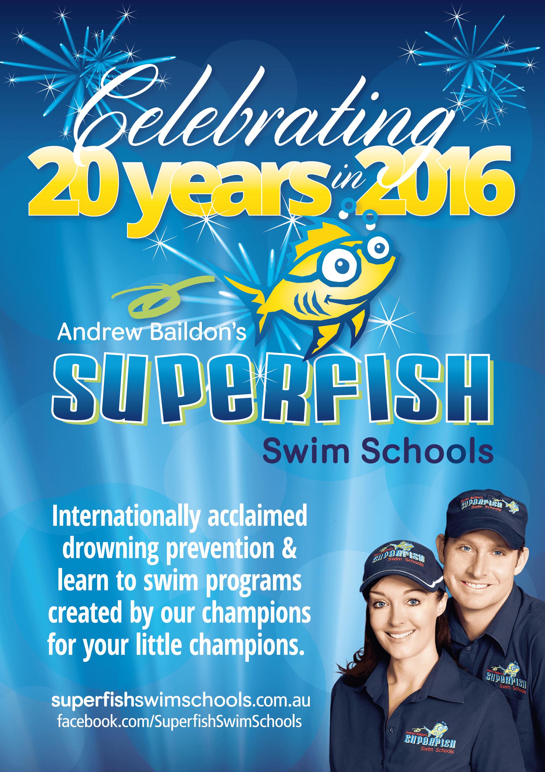Superfish Celebrating 20 Years in Learn to Swim!