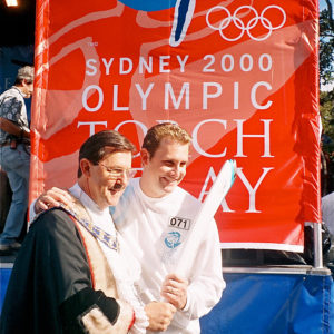 Gary Baildon and Andrew Baildon Sydney Olympic Torch Relay 2000