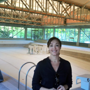 Karen Baildon at Superfish Benowa construction site