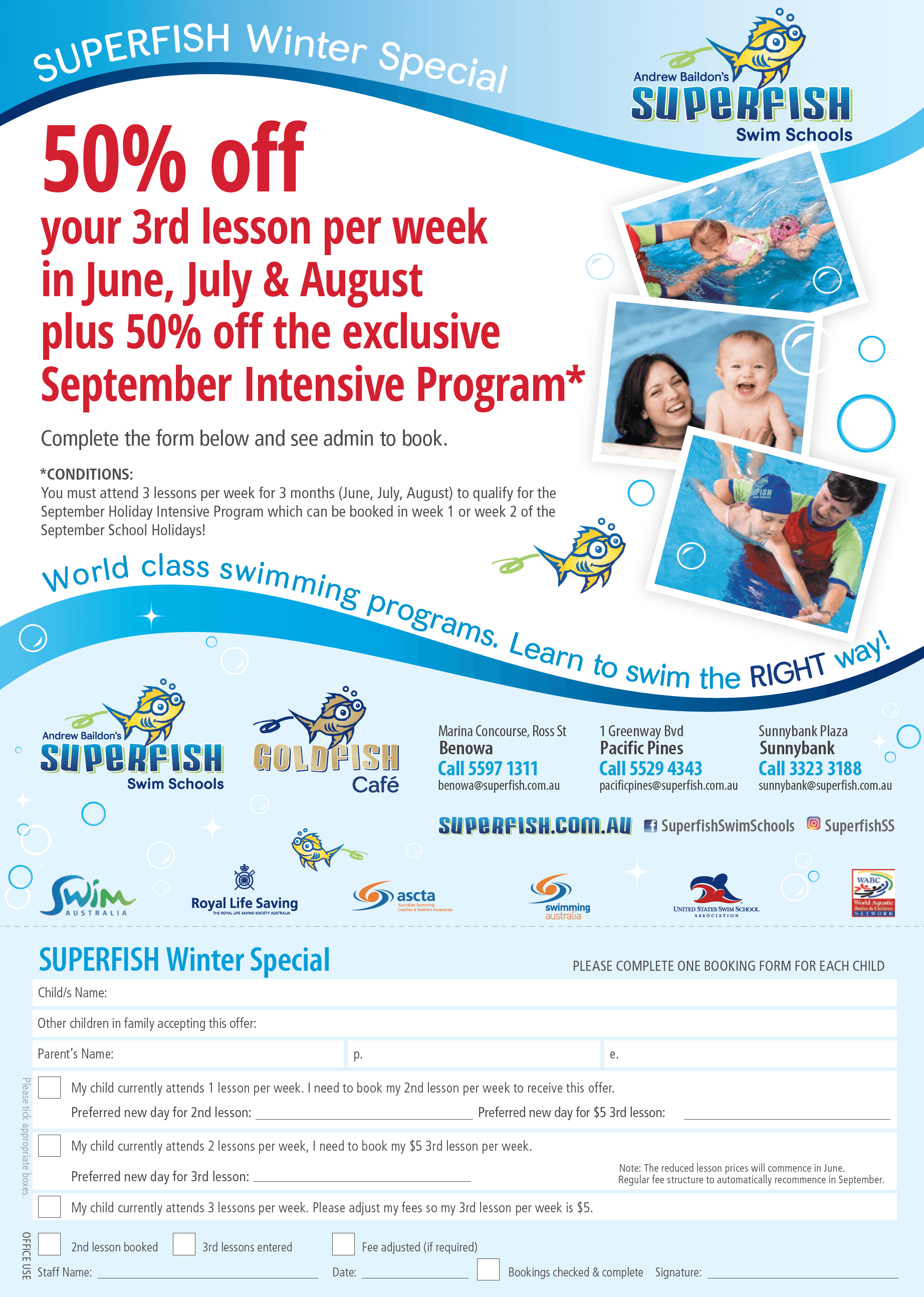 Superfish Swim Schools Winter Specials 2017