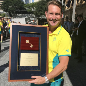 Andrew Baildon Receives The Keys To The City Of Brisbane