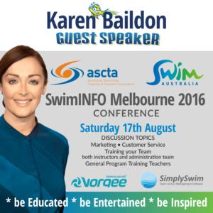 Superfish SwimAustralia SwimINFO Keynote Speaker Karen Baildon, Superfish Swim Schools, Melbourne 2016
