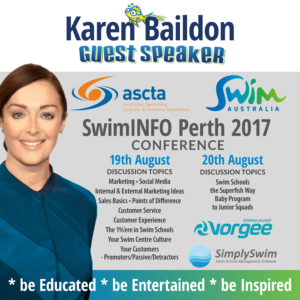 Superfish SwimAustralia SwimINFO Keynote Speaker Karen Baildon, Superfish Swim Schools, Perth 2017