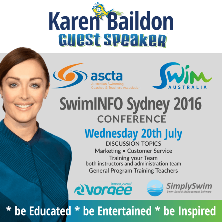 Superfish SwimAustralia SwimINFO Keynote Speaker Karen Baildon, Superfish Swim Schools, Sydney 2016