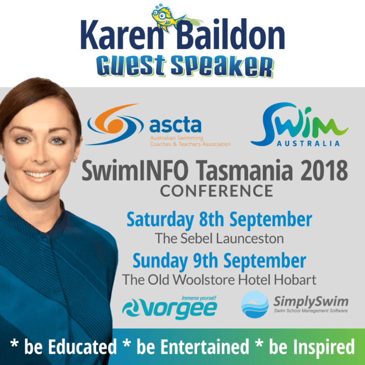 Superfish Guest Speaker Karen Baildon at SwimINFO Tasmania