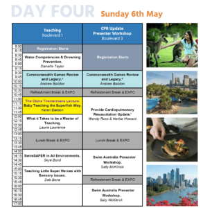 AsctaConference Program Sunday 6 May 2018 featuring Karen Baildon