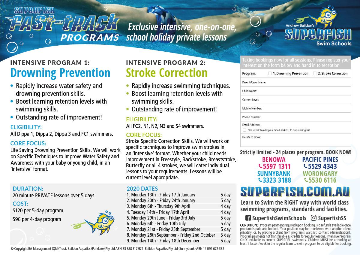 Superfish Intensive Swimming Programs 2020