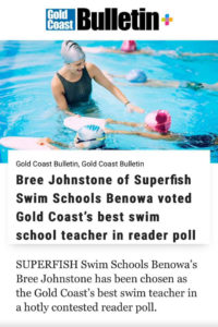 Superfish Benowa Bree Johnston Best Swim Teacher on the Gold Coast