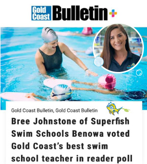 Superfish Bree Johnstone voted Gold Coast best swim teacher