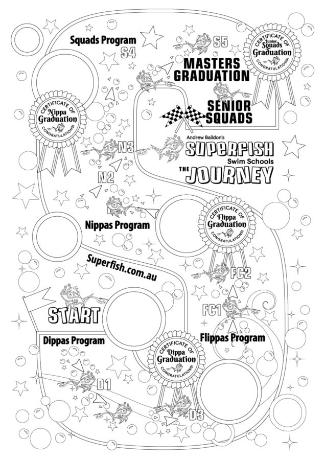 Superfish Swim Schools Colour In The Superfish Journey Poster