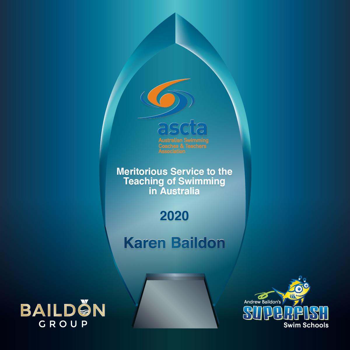 ASCTA Winner Karen Baildon